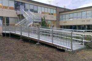 plataforma em estrutura metalica