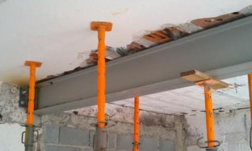 Reforço estrutural com viga i