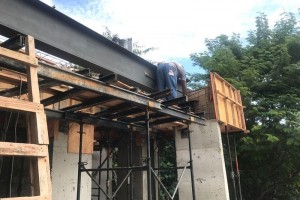 Reforço estrutural com viga metálica